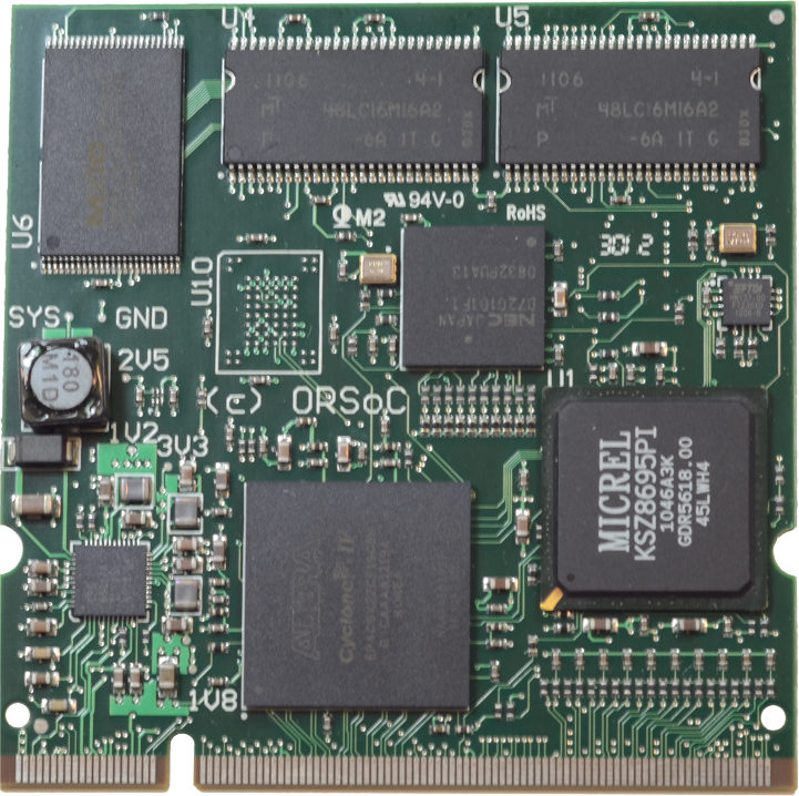ARMSoC-FPGA System-on-Module product, developed by ORSoC